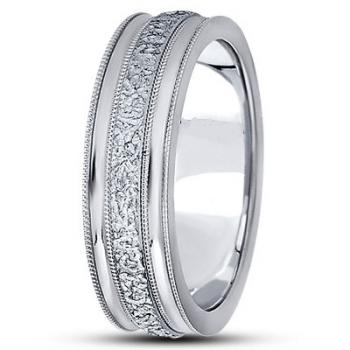 Stylish Carved Wedding Bands