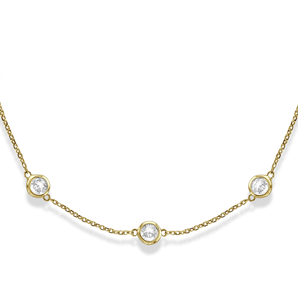 Always Elegant Diamond Station Necklaces