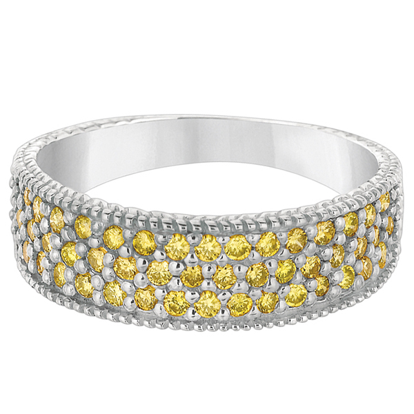 Sizzling and Sultry Yellow Diamond Rings