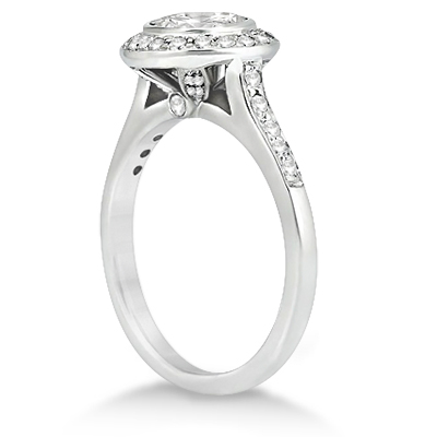 Heavenly Halo Engagement Rings