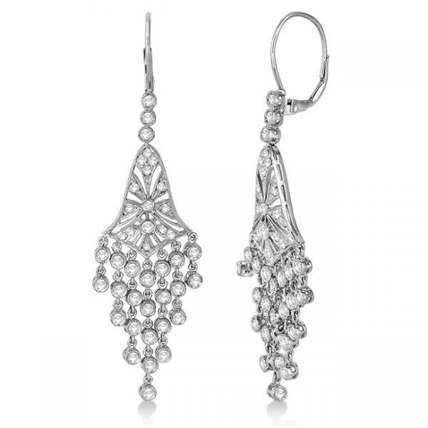 Dazzling Diamond Chandelier Earrings