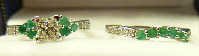 Emerald Engagement Rings & Wedding Bands from Allurez.com