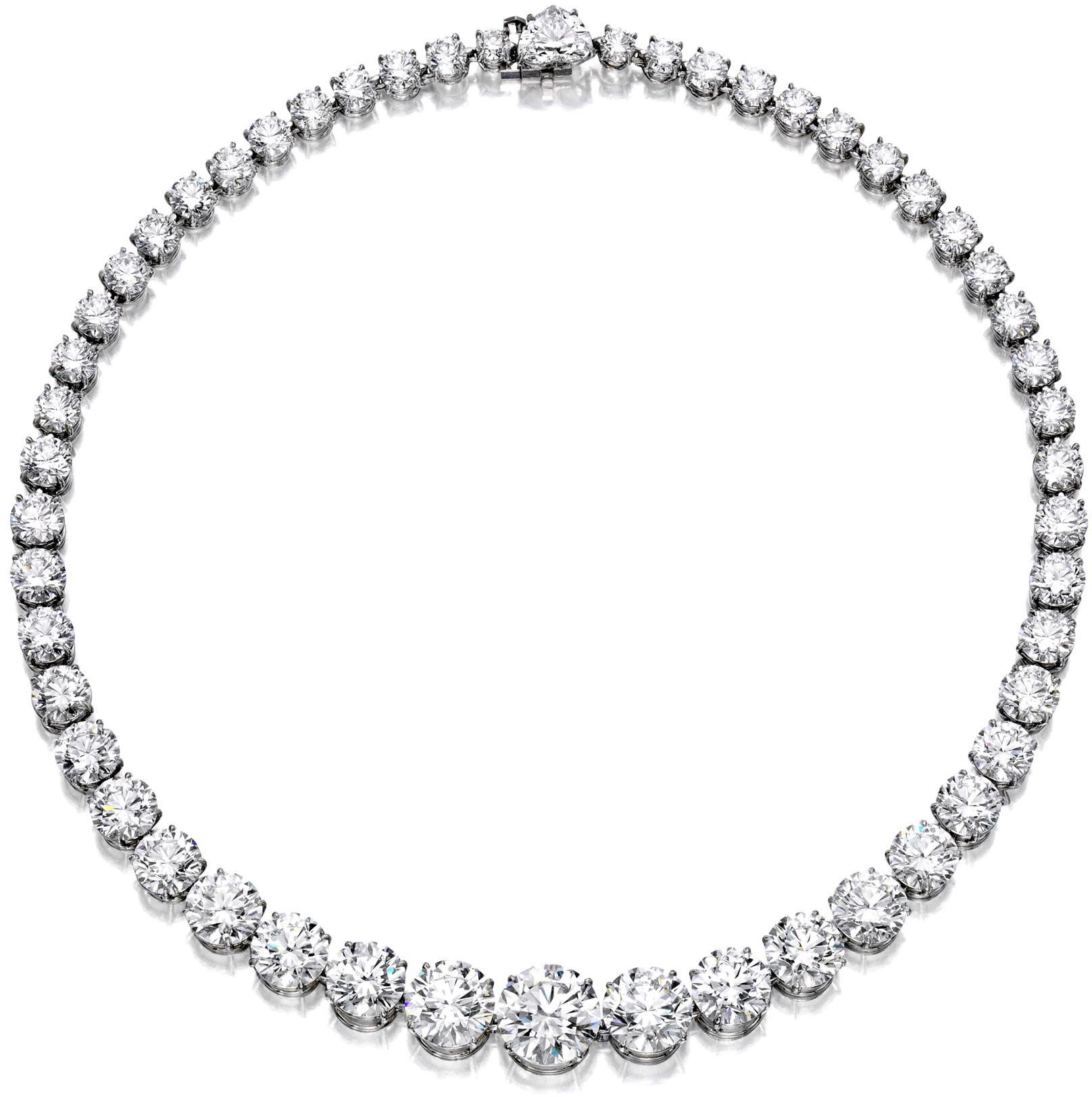 Bonhams'  $1.2 mil. 79.2 ct. triple-x cut diamond necklace
