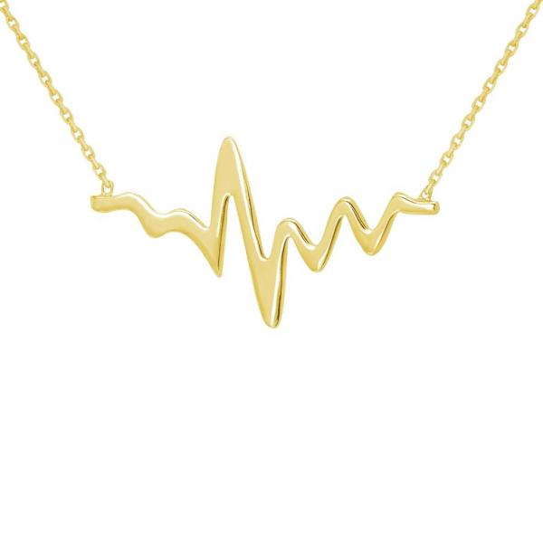 New Heartbeat Pulse Pendant Necklaces