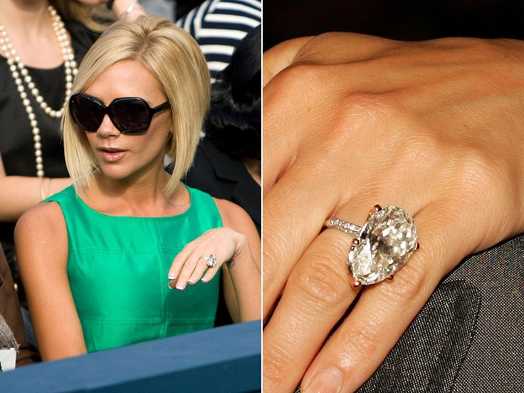 victoria beckham 39 s 13 engagement rings allurez jewelry blog. Black Bedroom Furniture Sets. Home Design Ideas