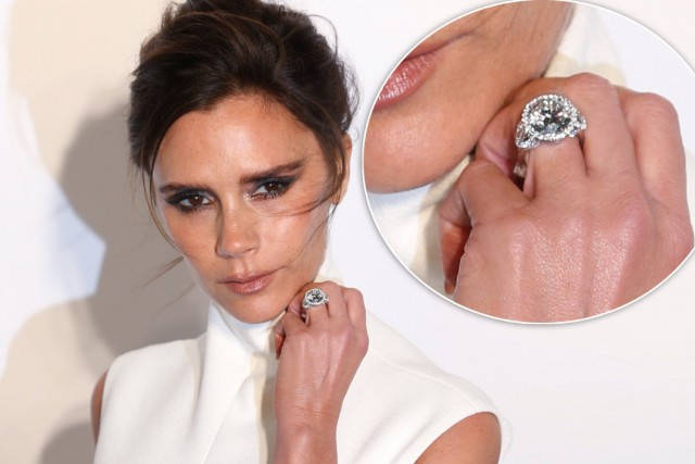 Victoria Beckham engagement rings, engagement rings, diamond engagement rings, diamond rings, celebrity engagement rings, extravagant engagement rings
