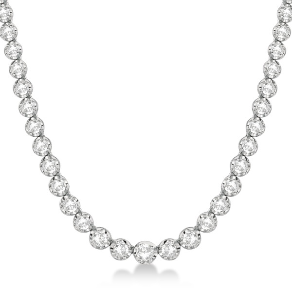Allurez Eternity Diamond Tennis Necklace 14k White Gold