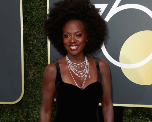 Viola Davis at the 2018 Golden Globes. Photo: Twitter.
