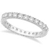 Diamond Eternity Wedding Ring Band 14K White Gold (0.51ctw) by Allurez.
