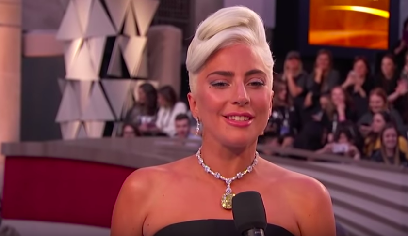 Lady Gaga on the red carpet at the 91st Academy Awards.