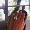 Emily Ratajkowski's engagement ring. Photo: Instagram.