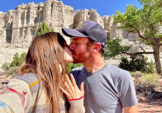 Lily Collins and her fiance Charlie McDowell. Photo: Instagram.