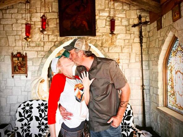 Gwen Stefani and Blake Shelton. Photo: Instagram/Gwen Stefani.