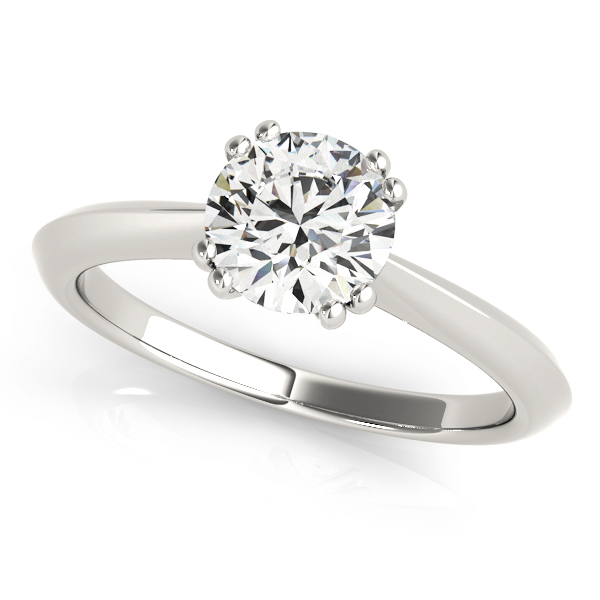Diamond Solitaire 8 Prong Engagement Ring 14k White Gold from Allurez.
