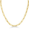 Large Paperclip Link Chain Necklace 14k Yellow Gold from Allurez.