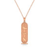 Egyptian Cartouche Pendant Necklace 14k Rose Gold from Allurez.