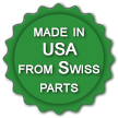 Made in USA from swiss parts
