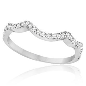 Womens Contoured Wedding Bands