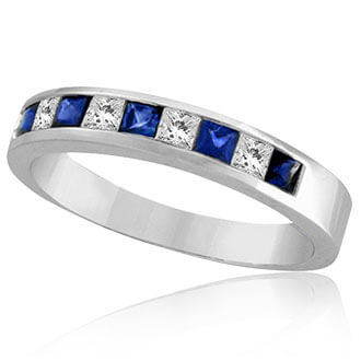 Womens Gemstone Wedding Bands