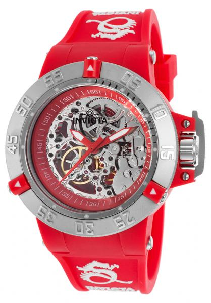 Allurez Invicta Women's 16781 Subaqua Mechanical 3 Hand Red Dial Watch at Sears.com