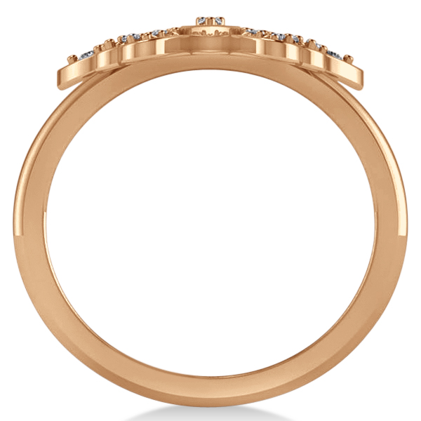 Butterfly Ring Diamond Accented14k Rose Gold  (0.23ct)