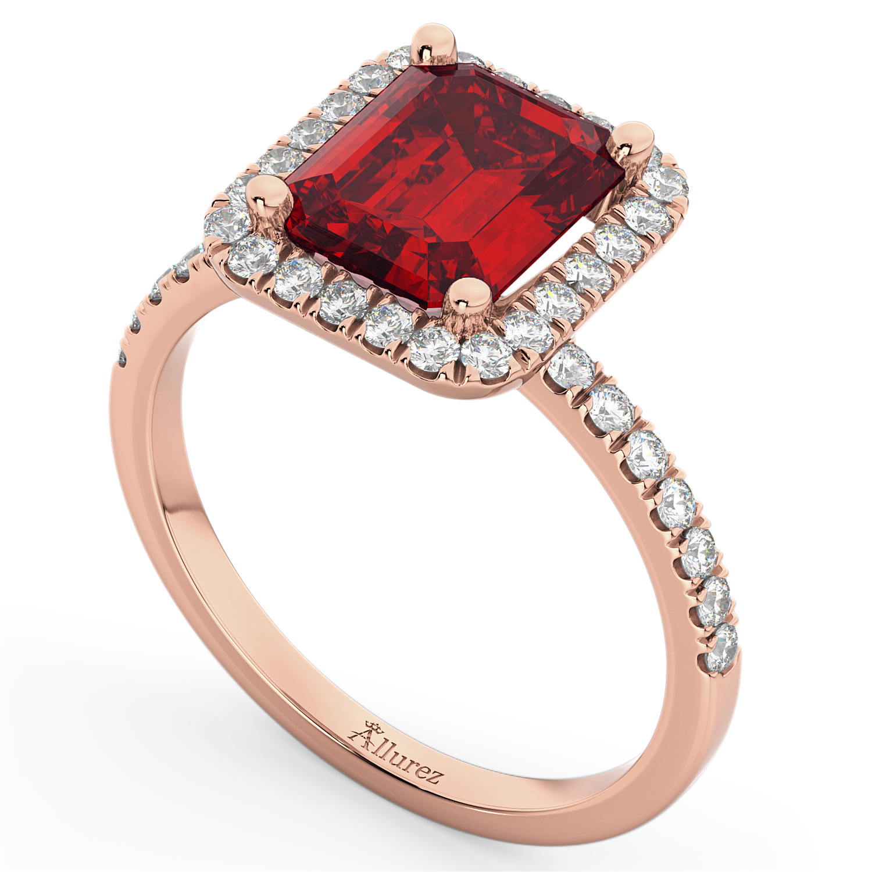 Ruby & Diamond Engagement Ring 18k Rose Gold (3.32ct)