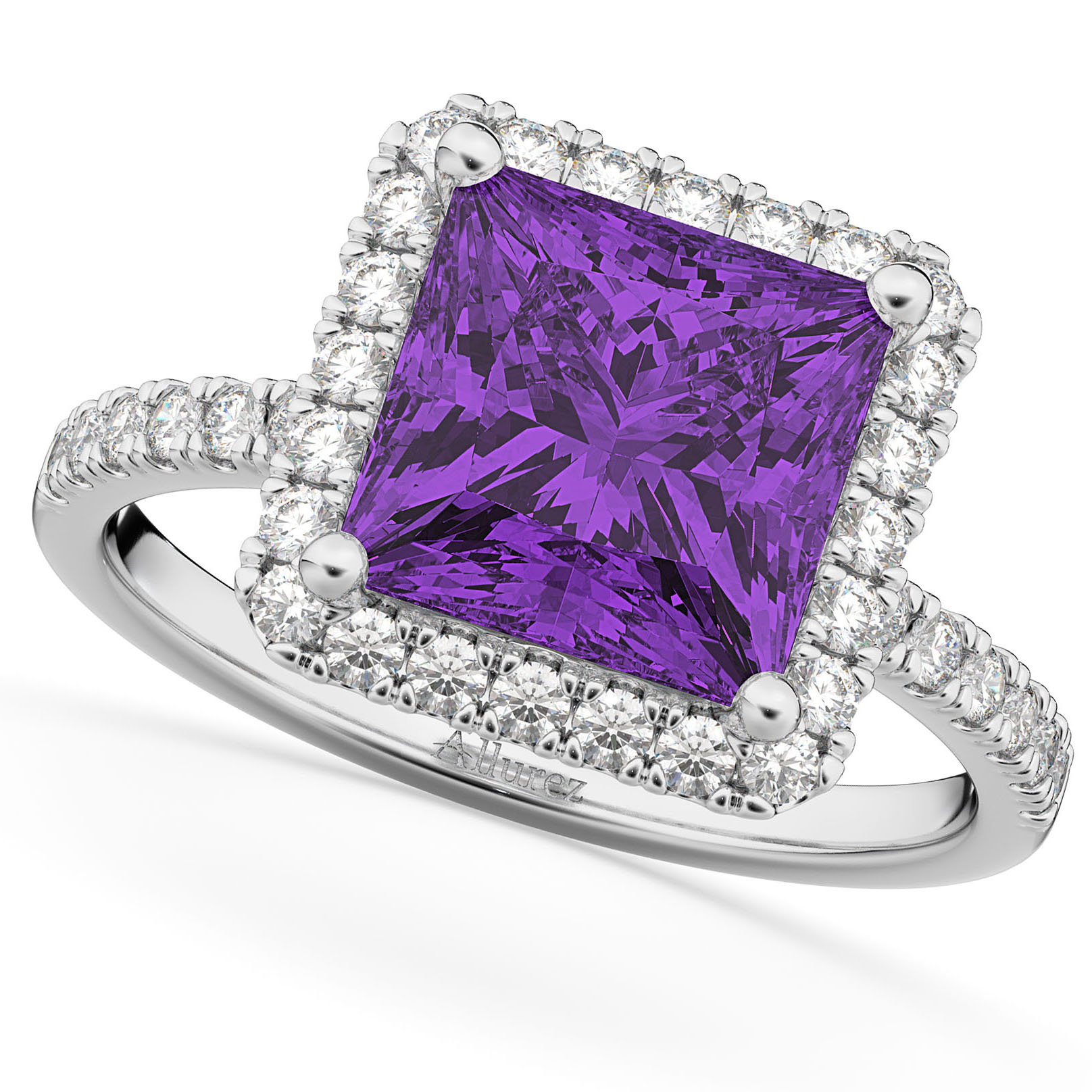 engagement bookends for silvet blaze square rings shop ring purple amethyst set with diamond