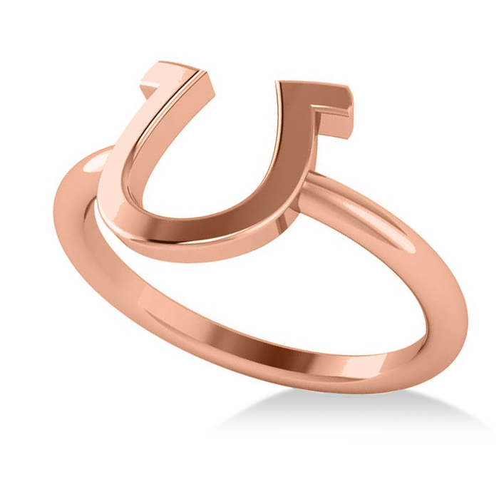 Centered Horseshoe Fashion Ring 14k Rose Gold