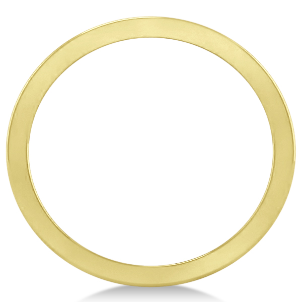 Double Bar Ring Plain Metal Abstract Design 14k Yellow Gold