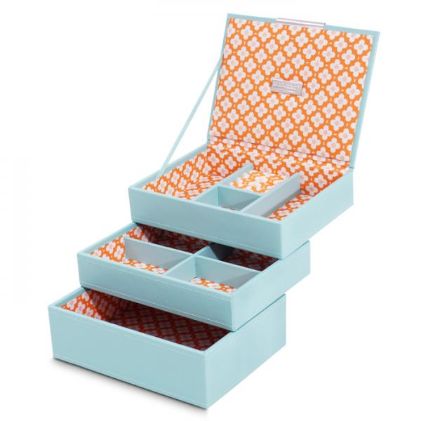 Women's Small Stackable Multi-Compartment Jewelry Tray Set of 3