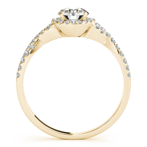 Twisted Infinity Halo Diamond Engagement Ring 14k Yellow Gold (0.20ct)