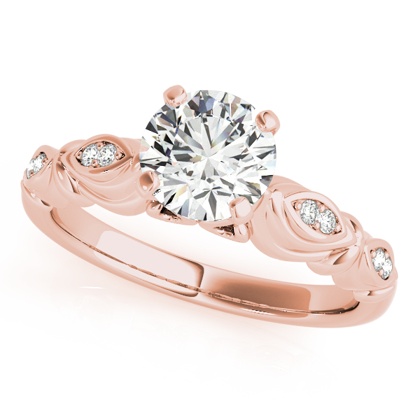 Vintage Round Solitaire Engagement Ring 14k Rose Gold (2.05ct)