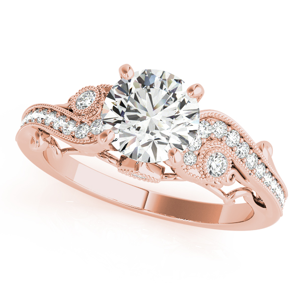aa973e260619a Vintage Swirl Diamond Engagement Ring 14k Rose Gold (2.20ct)