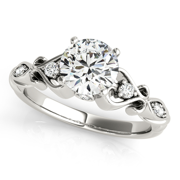 1 ctw. Round Diamond Solitaire Engagement Ring in 18k White Gold 0D34zse41R