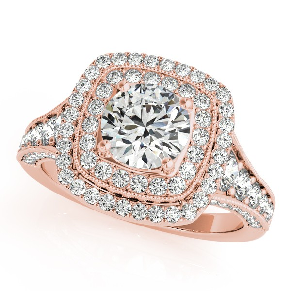 round square ring halo shaped rings engagement memnto diamond