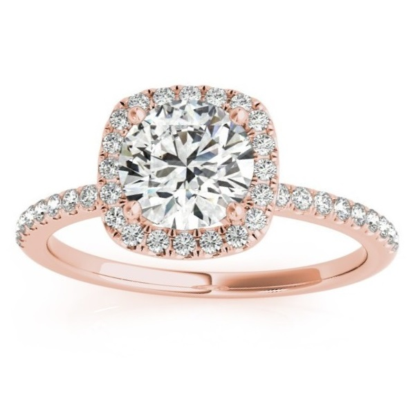 Allurez Square Halo Diamond Engagement Ring Setting in 14...