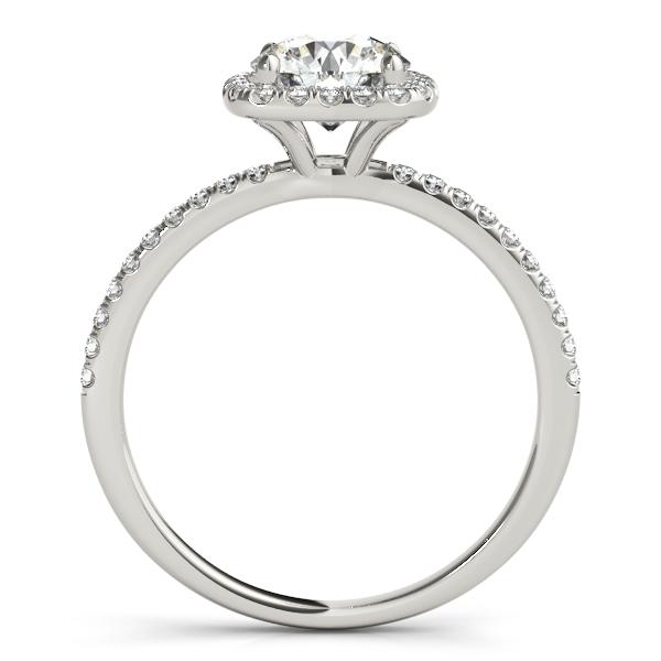 Square Halo Round Diamond Bridal Set Ring & Band 14k White Gold 1.63ct