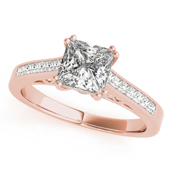 967dfead2eeedf Double Prong Princess-Cut Diamond Engagement Ring 18k Rose Gold (1.25ct)