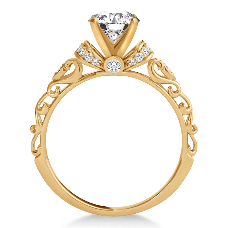 Diamond Antique Style Bridal Set 18k Rose Gold (1.62ct)