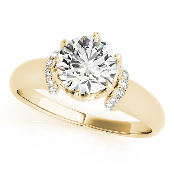 Diamond 6Prong Solitaire Engagement Ring 14k Yellow Gold 115ct