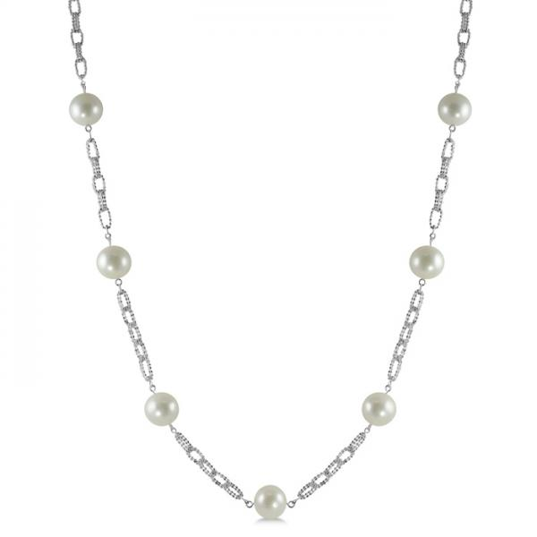 Freshwater Pearls by the Yard Necklace Sterling Silver 39 11-12mm