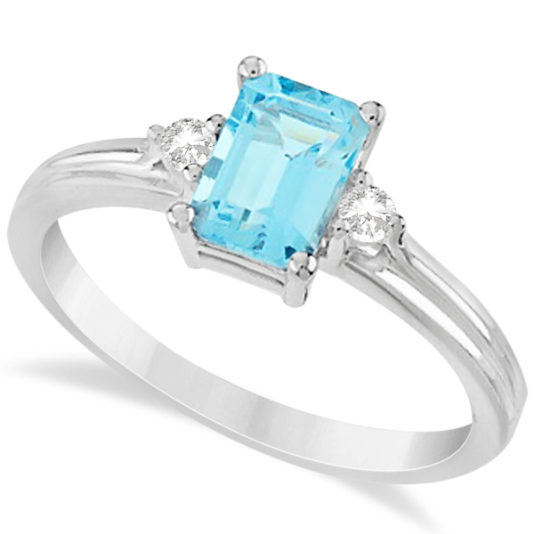 rings ring flower unique aquamarine engagement aqua products