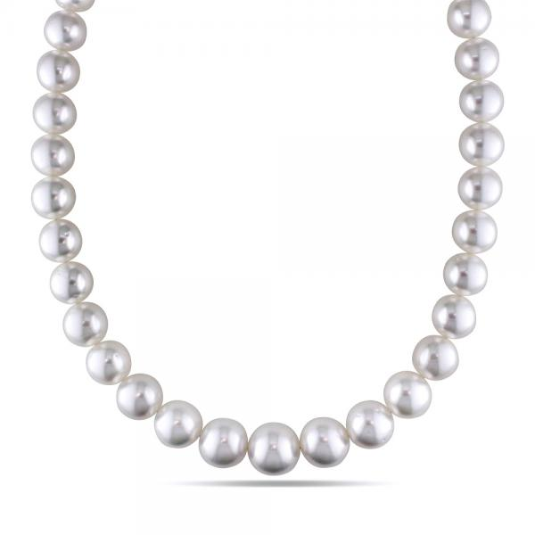 90f858a8b5469 Cultured South Sea Pearls Strand Graduated Necklace 12-14mm 14k Gold