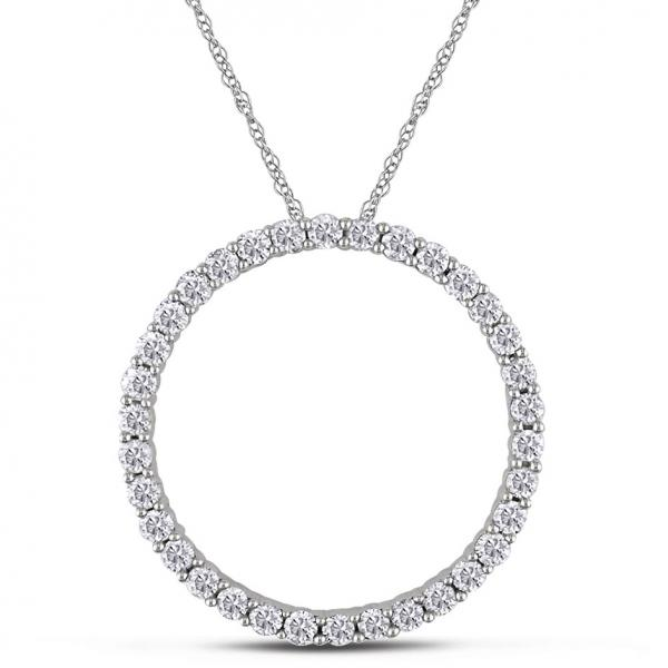 Diamond circle life pendant necklace womens 14k white gold 1ct de22 diamond circle of life pendant necklace womens 14k white gold 100ct aloadofball Image collections