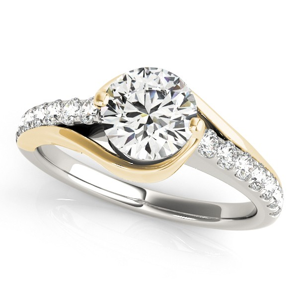 rings thin diamond engagement wedding matching bands ring two gold set pave tone moissanite curve