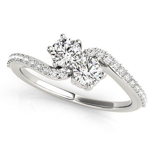 t set stone shaped engagement diamonds diamond je two round aime three rubover rings cut wedding ring brilliant trilogy