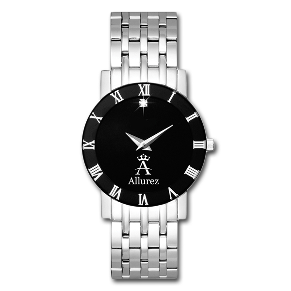 Allurez Diamond Solitaire Dial Fashion Watch for Women Swiss Made