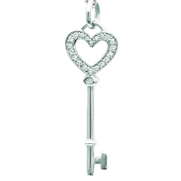 Diamond heart key pendant necklace in 14k white gold 010ct wkp1 diamond heart key pendant necklace in 14k white gold 010ct aloadofball Images