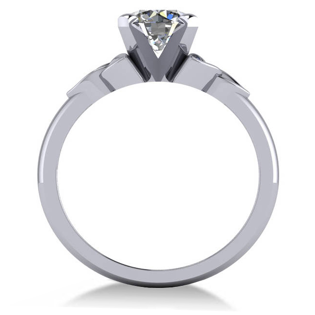 Celtic Love Knot Solitaire Engagement Ring Setting 14k White Gold