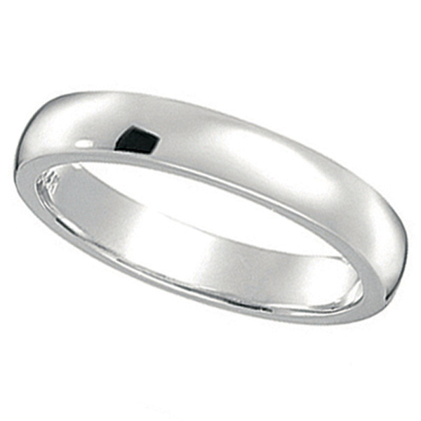Dome Comfort Fit Wedding Ring Band Palladium 2mm